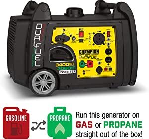 Champion 3400W Dual Fuel RV Portable Inverter Generator