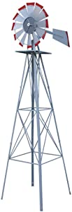 Nova Microdermabrasion Ornamental Steel Garden Windmill