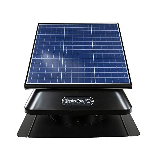 QuietCool 40W Solar Powered Roof Mount Attic Fan