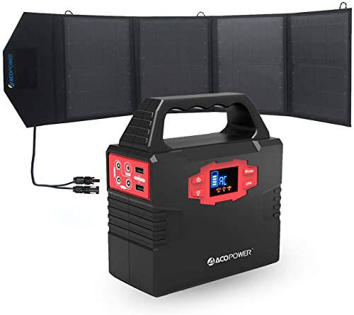 ACOPOWER Portable 150Wh Solar Generator with 50W solar panel