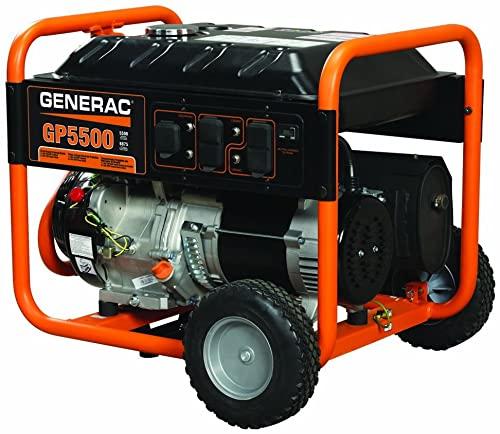 Generac 5939 GP5500 Gas Powered Portable Generator