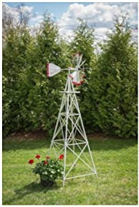 Winguard 8 feet Premium Aluminum Garden Windmill