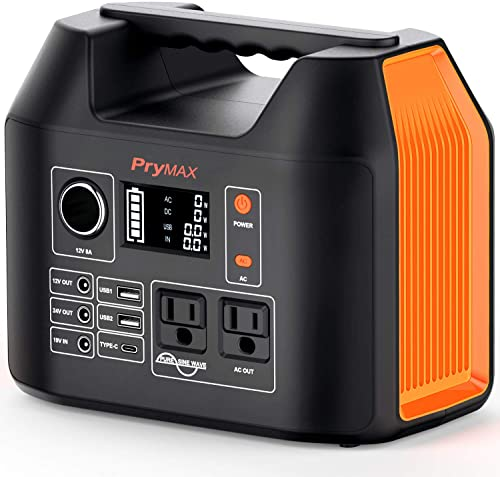 PRYMAX Power Station with Portable 300W Solar Generator