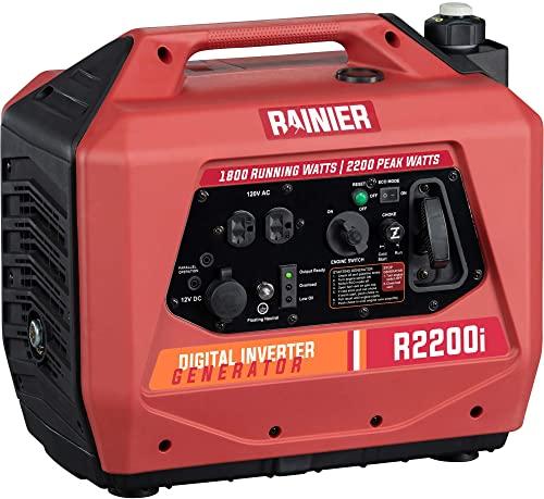 Rainier Outdoor Power Equipment R2200i Portable Outdoor Inverter Generator