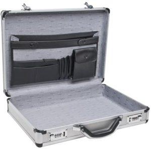 RoadPro Silver Aluminum Briefcase
