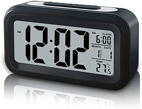 GLOUE Battery Operated Digital Travel Alarm Clock