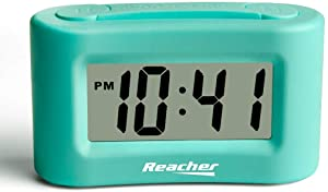 Reacher Mini Battery Operated Travel Alarm Clock with Basic Operations