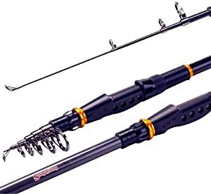 Sougayilang Graphite Carbon Fiber Portable Telescopic Fishing Rod