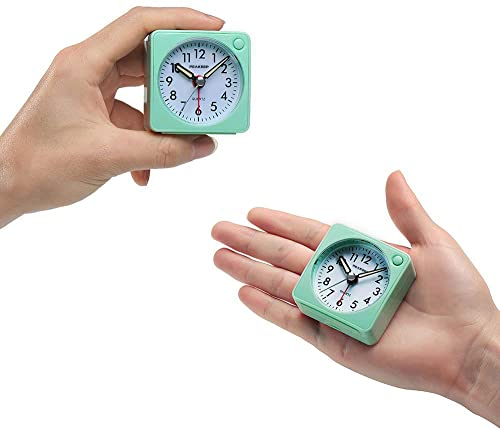 Peakeep Ultra Small Analog Travel Alarm Clock