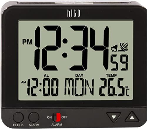 Hito Digital Battery Atomic Alarm Clock