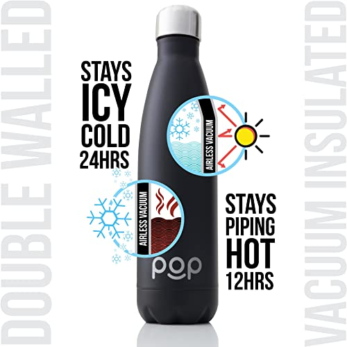 Pop Design Travel Water Bottle of Stainless Steel Vacuum Insulated Type
