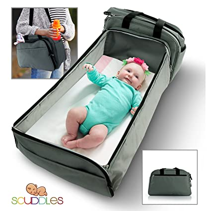 Scuddles 3 in 1 Portable Bassinet for Traveling