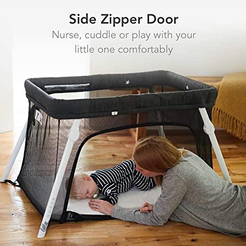 Lotus Backpack Portable Travel Crib with Comfortable Mattress