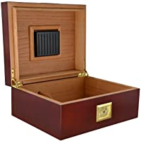 La Cubana Cherry Wood Humidor with Golden Metal Holds