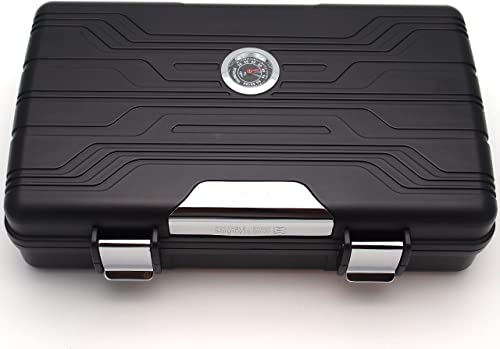 Mrs. Brog Waterproof Travel Humidor for Cigars with Integrated Humidifier and Hygrometer